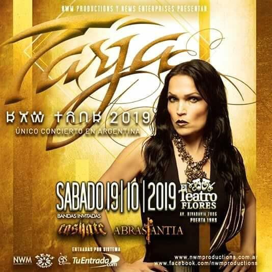 ¡Abrasantia elegidos para abrir el único show de Tarja Turunen en Argentina!