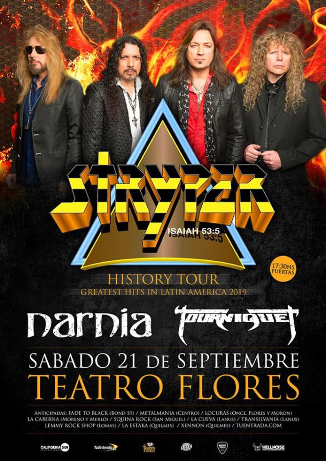 Stryper en Argentina junto a Narnia y Tourniquet