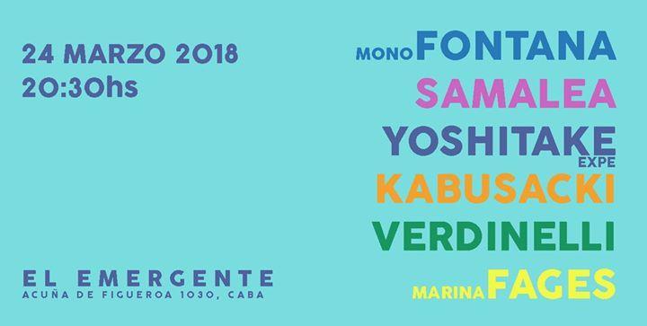 Mono Fontana Samalea Yoshitake Kabusacki Verdinelli Fages