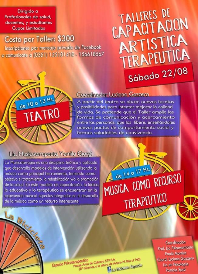 TALLERES DE CAPACITACIÓN ARTÍSTICOS TEARAPEUTICOS