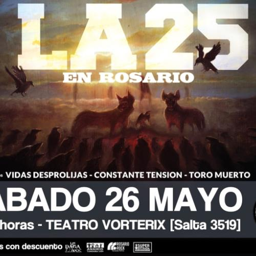 La 25 presenta nuevo disco en Rosario