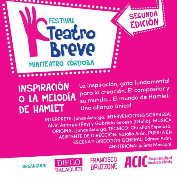Inspiración o La Melodía de Hamlet (Festival Teatro Breve)