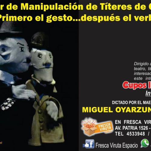 """TALLER DE MANIPULACIÓN DE TÍTERES DE GUANTE   """"Primero el gesto, después el verbo"""""""
