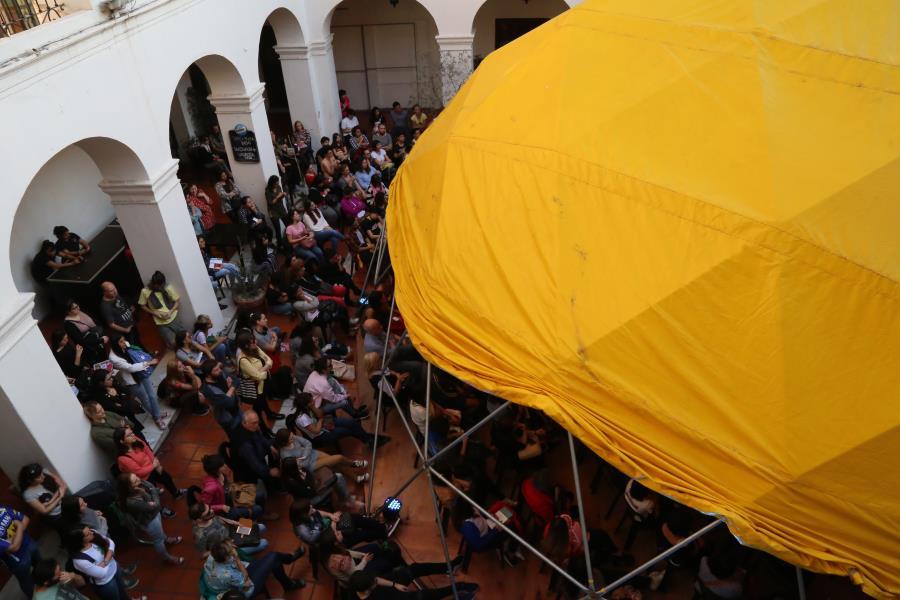 Encuentro con Chanti. Pase de antorcha de Chanti a Furnier rumbo a la Feria Infantil del Libro Córdoba 2020.