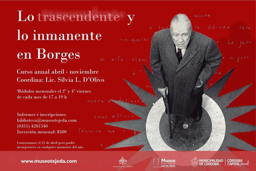 """Curso """"Lo inmanente y lo trascendente en Jorge Luis Borges"""""""