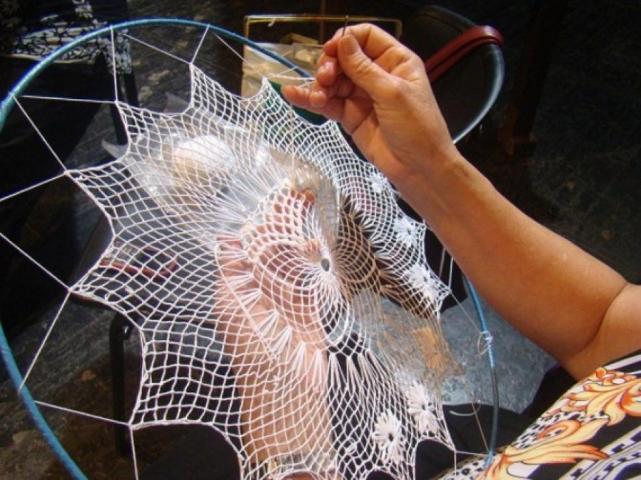 Desfile textil. Cierre de talleres de Randas, de Bordado y Fieltro agujado