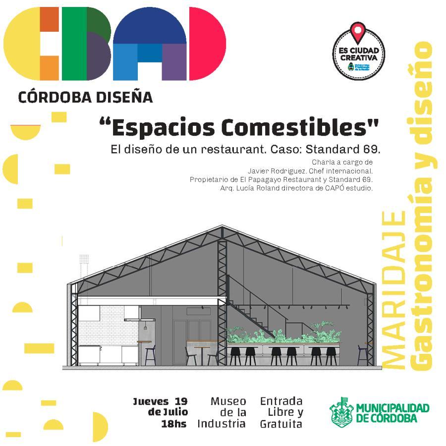 """Charla: """"Espacios Comestibles"""" - Córdoba Diseña"""