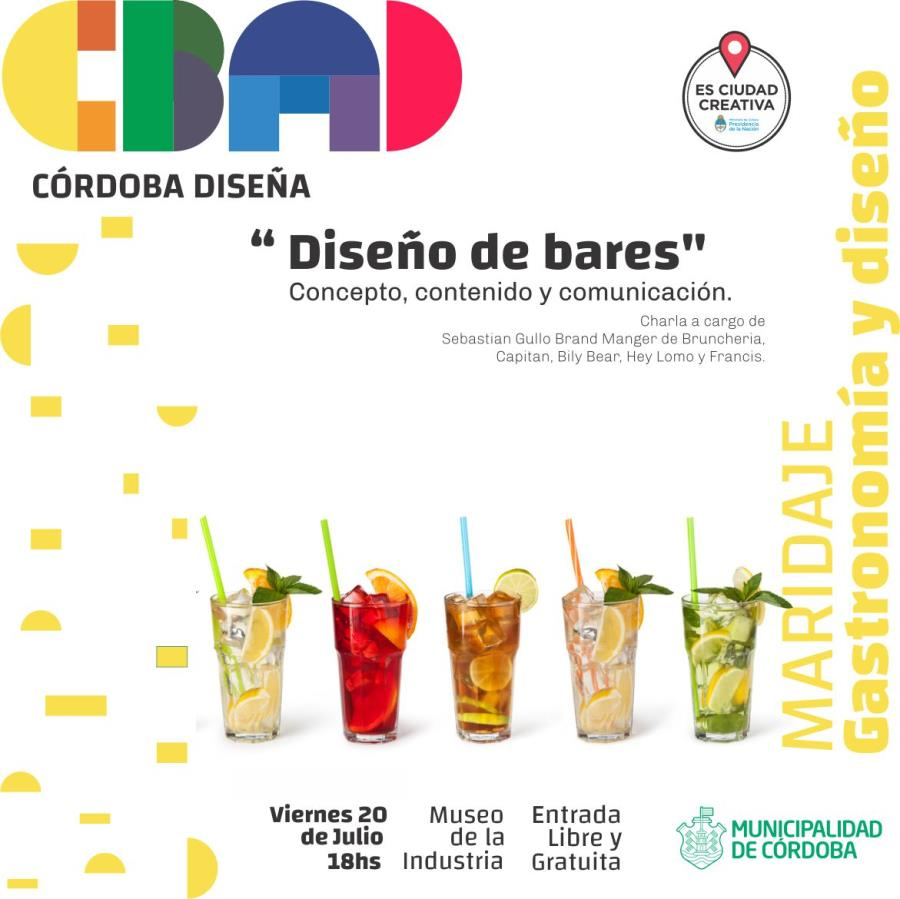 """Charla: """"Diseño de bares: concepto, contenido y comunicación."""" Córdoba Diseña -"""