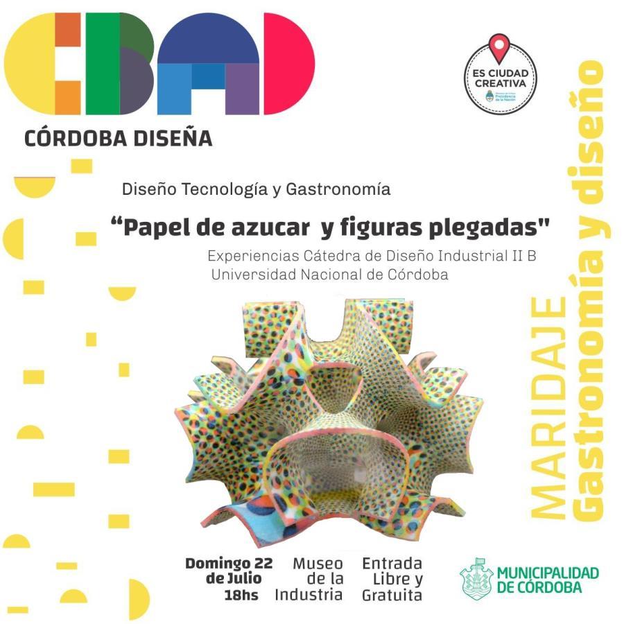 "Charla: ""Papel de Azúcar y figuras plegadas"" - Córdoba Diseña"