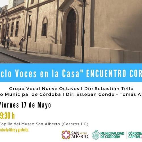 """Ciclo """"Voces En La Casa"""" presenta al Coro Municipal de Córdoba"""