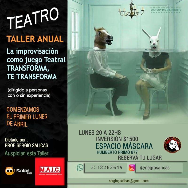 Teatro Taller Anual / La Improvisación como Juego Teatral
