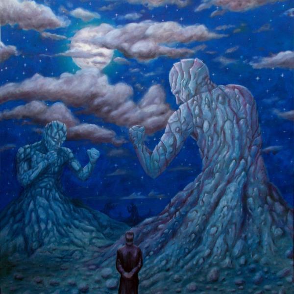 """""""Gigantes de piedra """" (pintura)"""