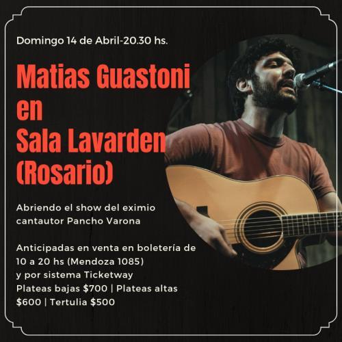 Matias Guastoni abre el show de Pancho Varona en Rosario