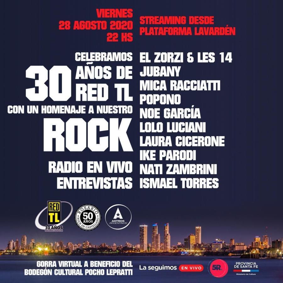 ¡RED TL Radio celebra sus 30 años junto al rock nacional!