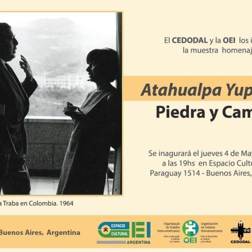 Exposición Piedra y Camino. Homenaje a Atahualpa Yupanqui en Espacio Cultural OEI.