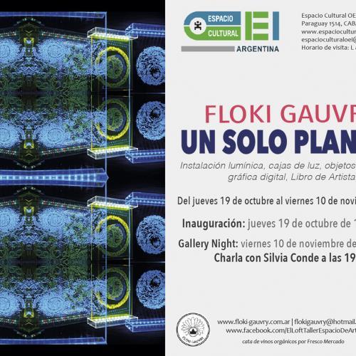 Un Solo Planeta de Floki Gauvry en Espacio Cultural OEI.