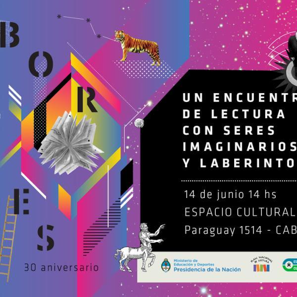 Homenaje a Borges. Un encuentro de lectura con seres imaginarios y laberintos en Espacio Cultural OEI.