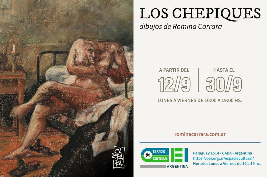 """Muestra de Romina Cararra en Espacio Cultural OEI: """"Los Chepiques"""""""