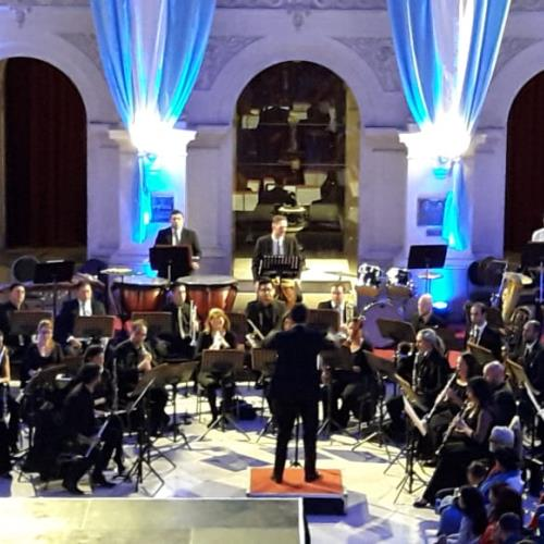 Ensamble Tangrama junto a la Banda Sinfónica Municipal