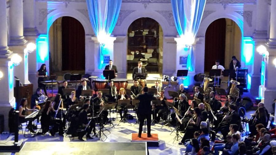 La Banda Sinfónica Municipal en La Sala de las Américas