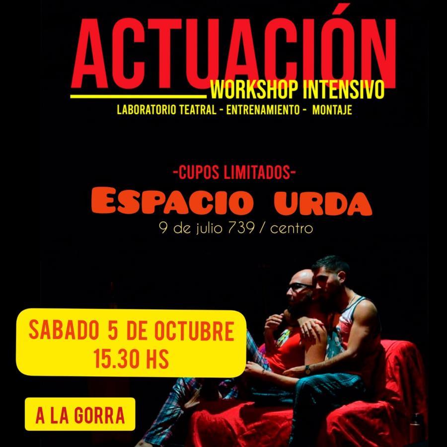 Workshop de actuación y montaje LGTB+