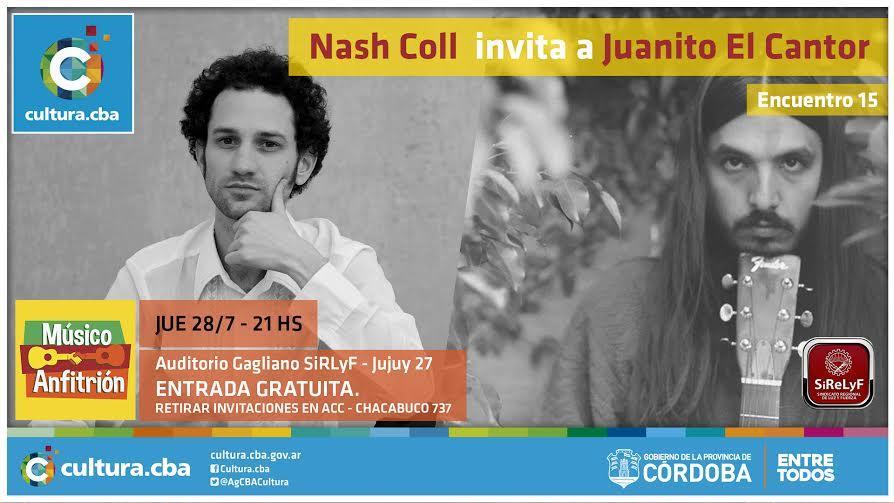 Músico Anfitrión: Bienvenida la canción Nash Coll invita a Juanito El Cantor