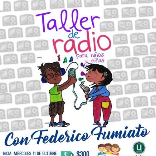 Taller de radio para niños y niñas en Espacio Viarava