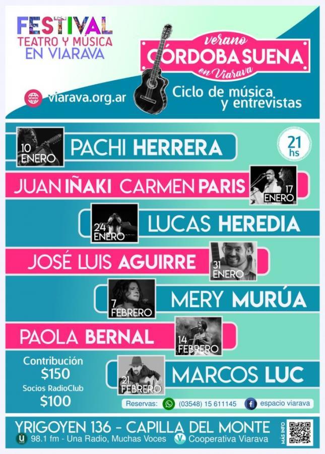 Córdoba suena: ciclo de música y entrevistas en Espacio Viarava
