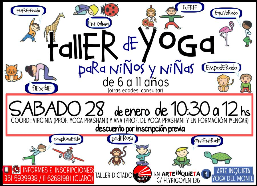 Taller de yoga para niñ@s de 6 a 11 años