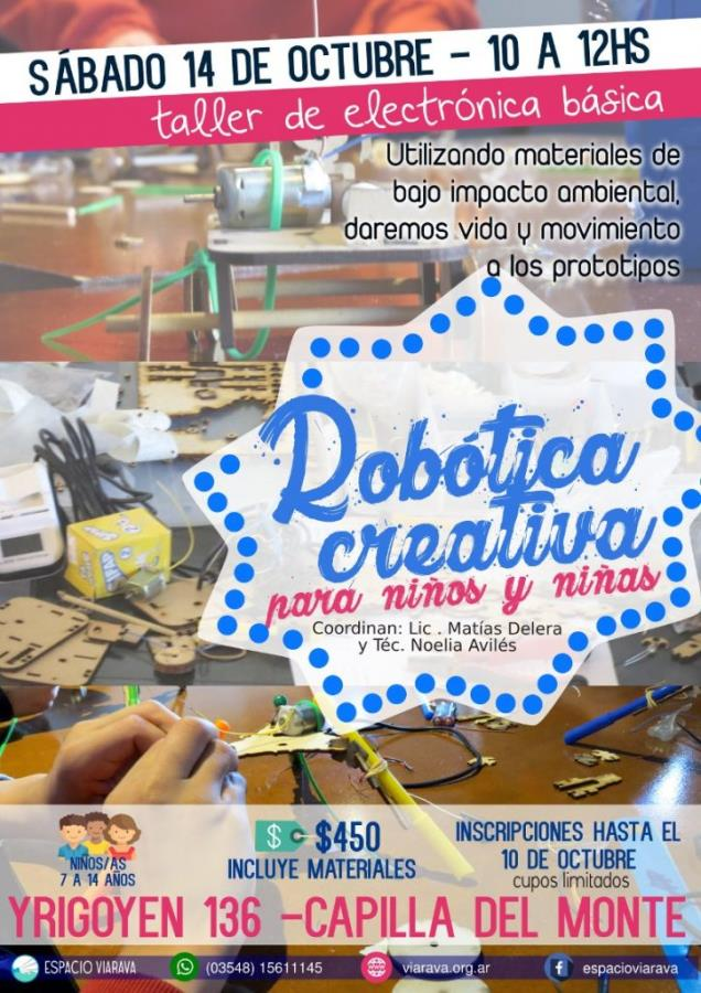 Robótica creativa en Espacio Viarava