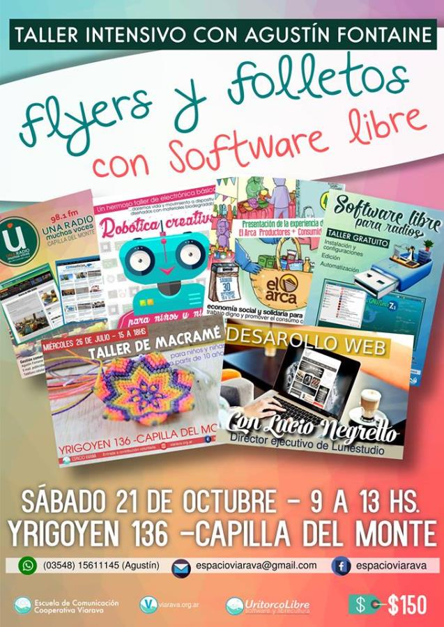 Flyers y folletos con software libre: Taller intensivo de diseño gráfico