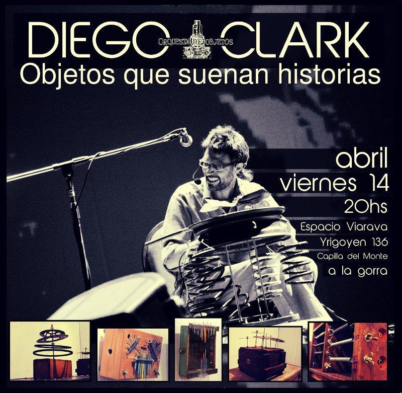 Diego Clark presenta 'Objetos que suenan historias'