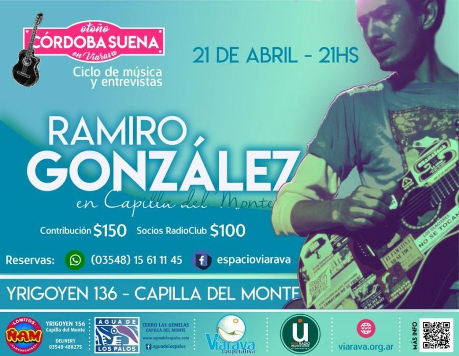 Ramiro González se presenta en el Ciclo Córdoba Suena