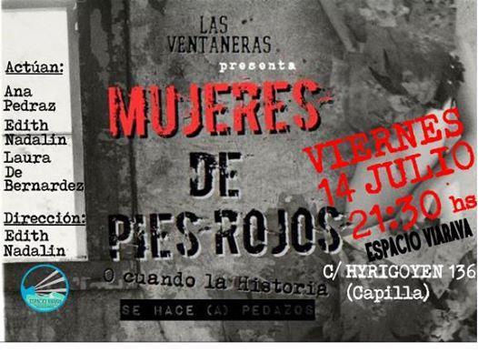 Las Ventaneras presentan 'Mujeres de pies rojos'