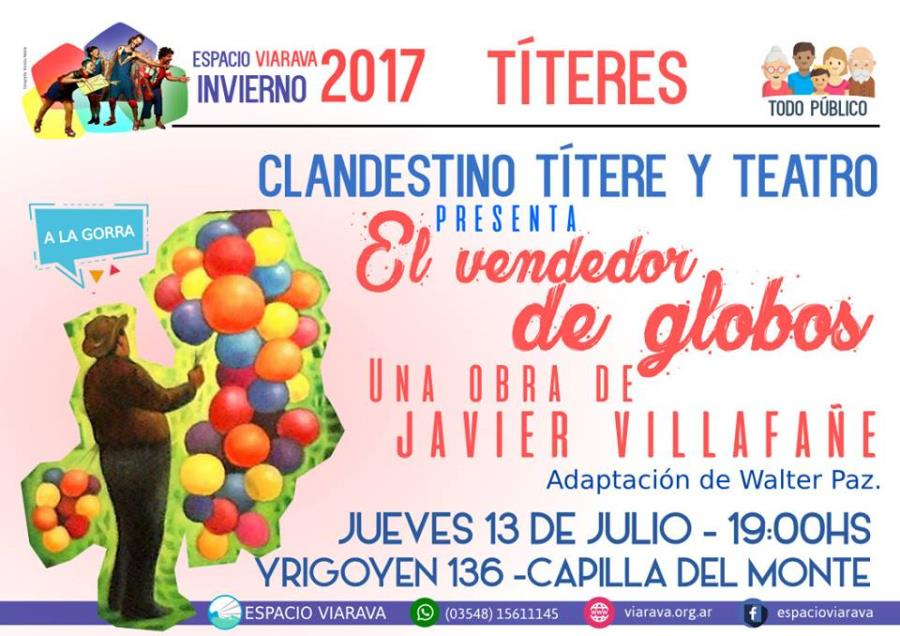 Títeres: 'El vendedor de globos' de Javier Villafañe