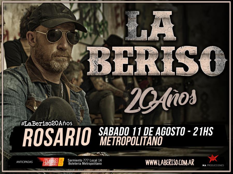 LA BERISO cumple 20 años y los festeja en Rosario