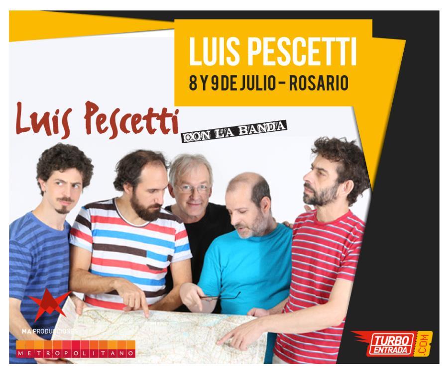 Luis Pescetti con la banda