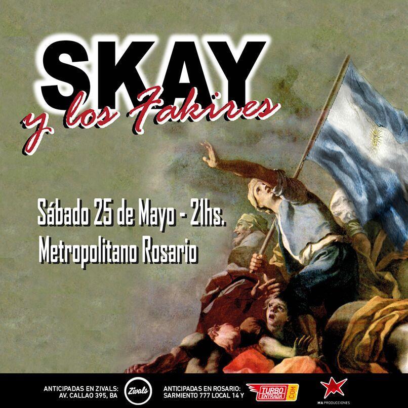 Skay y Los Fakires en Rosario