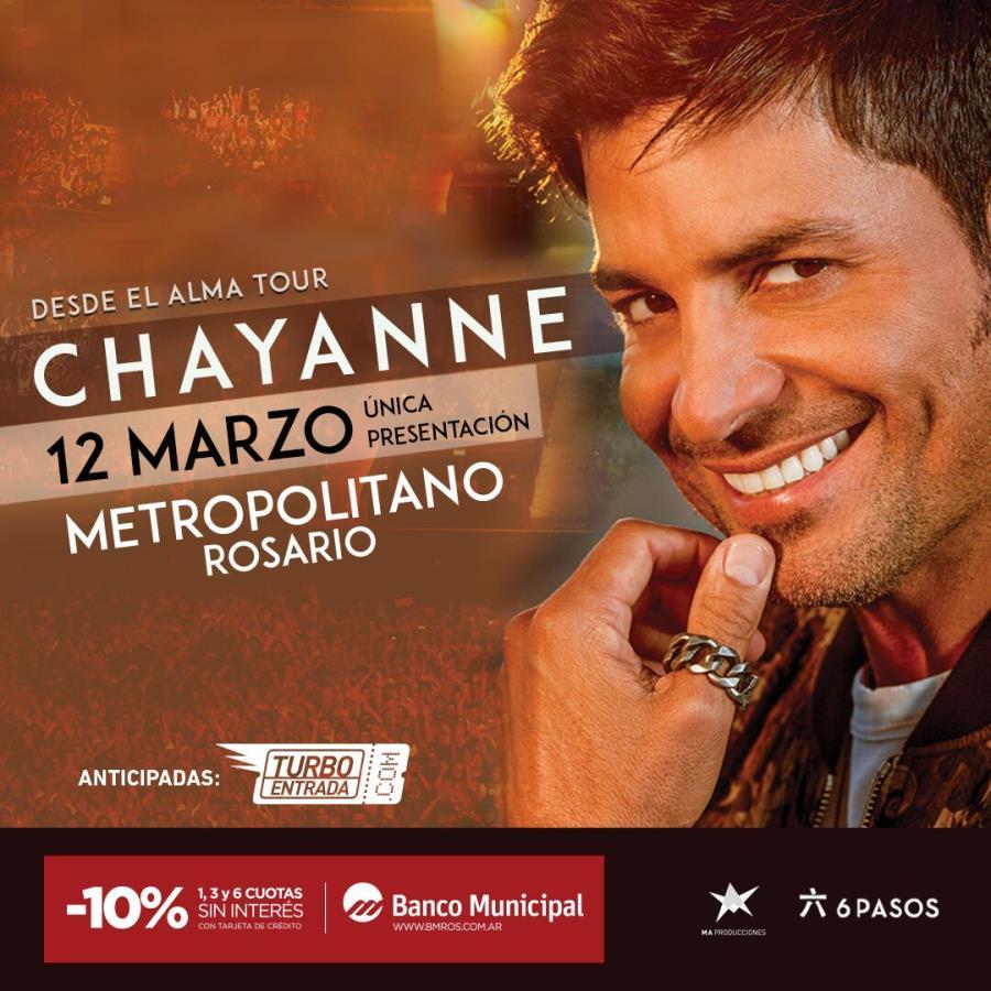 """Chayanne regresa a Rosario con su gira """"Desde el Alma Tour"""". ¡Única presentación!"""