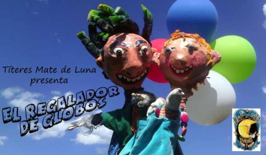 """""""El regalador de globos"""". Titeres Mate De Luna de San Marcos Sierras en el Paseo es de los Niños! Programación de Espectáculos Infantiles"""